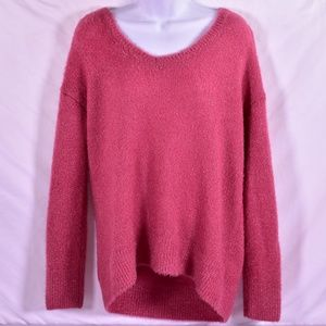 HALOGEN Fuzzy Light weight V-Neck Sweater (M60B)